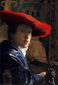 Johannes Vermeer : Girl with the red hat
